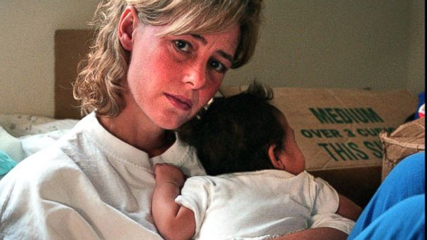 PHOTO: Mary Kay LeTourneau, 34, holds a baby in Normandy Park, Wash., July 20, 1997, that was fathered by a 14-year-old boy she once taught as an elementary school teacher.