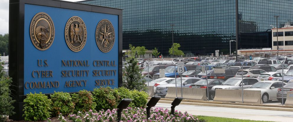 PHOTO: This June 6, 2013 file photo shows a sign outside the National Security Agency (NSA) campus in Fort Meade, Md.