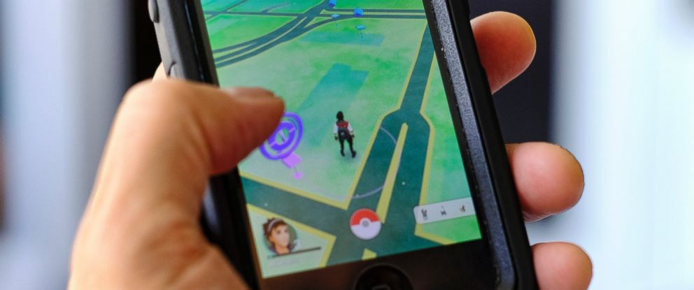 PHOTO: Pokemon Go is displayed on a cell phone in Los Angeles, July 8, 2016.