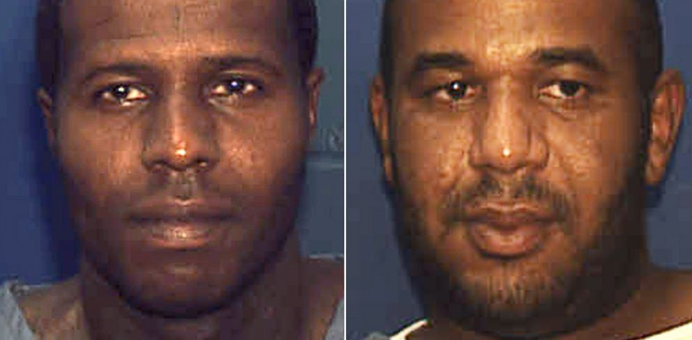 PHOTO: Two convicted murderers, Charles Walker, left, and Joseph Jenkins were mistakenly released from prison with forged documents in Franklin County, Fla., in late September and early October.