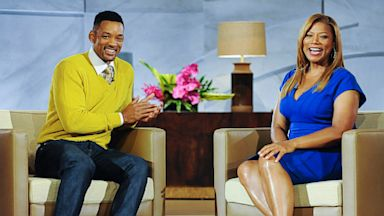 "PHOTO: Queen Latifah and Will Smith on ""The Queen Latifah Show"""