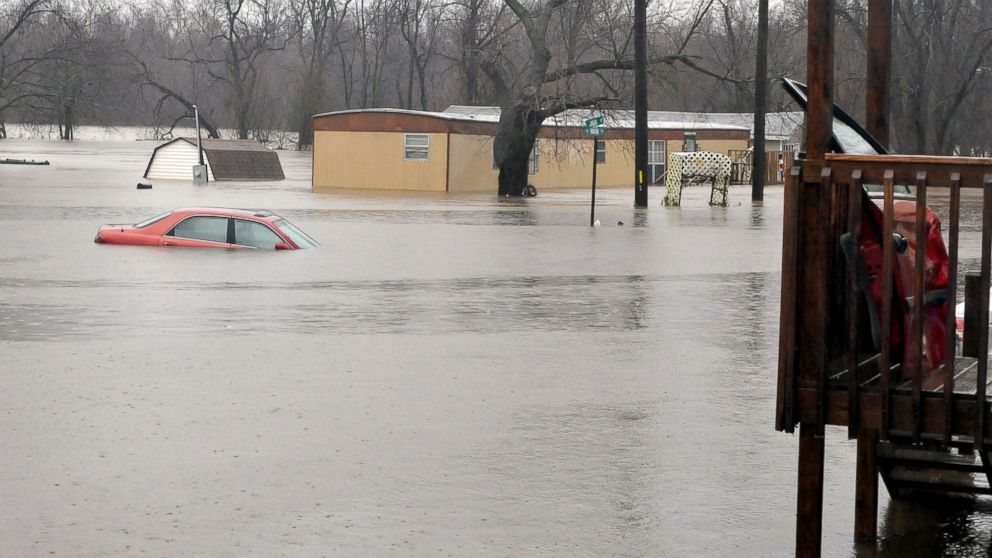 Missouri's governor has declared a state of emergency because of widespread flooding that has led to  fatalities in Kendricktown, Mo., Dec. 27, 2015.