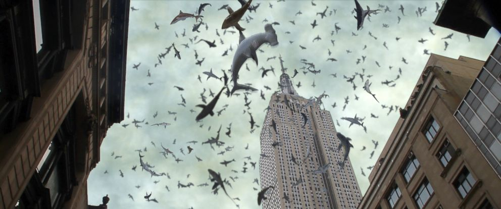 """PHOTO: A scene from """"Sharknado 2: The Second One."""""""