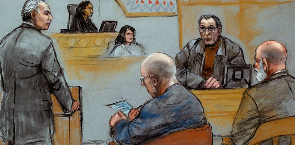 "PHOTO: Stephen ""The Rifleman"" Flemmi Takes Stand in Bulger Trial"