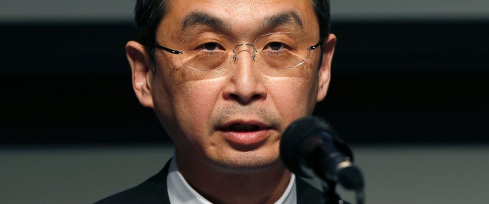 PHOTO: Japanese seat belt and air-bag maker Takata Corp. Chairman and CEO Shigehisa Takada speaks during a press conference regarding the expanding recall of his companys air bags, in Tokyo, June 25, 2015.