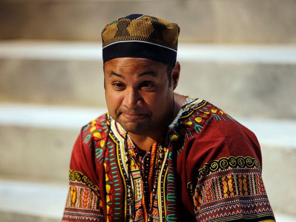 PHOTO: Director Rajendra Ramoon Maharaj after a rehearsal for The Ballad of Trayvon Martin at the New Freedom Theatre in Philadelphia, May 10, 2016.