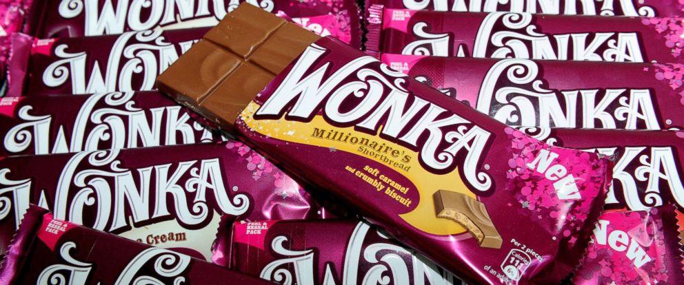 PHOTO: Wonka chocolate bars.