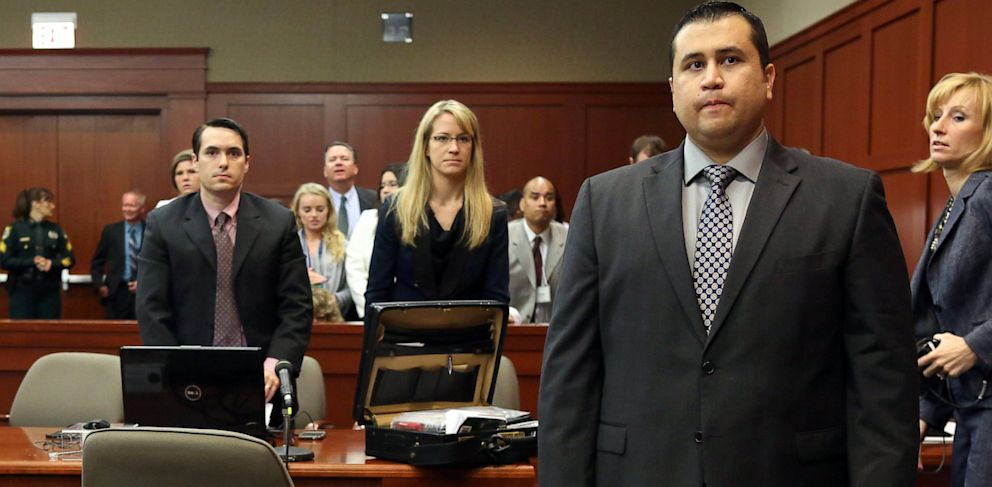 PHOTO: George Zimmerman stands during his trial