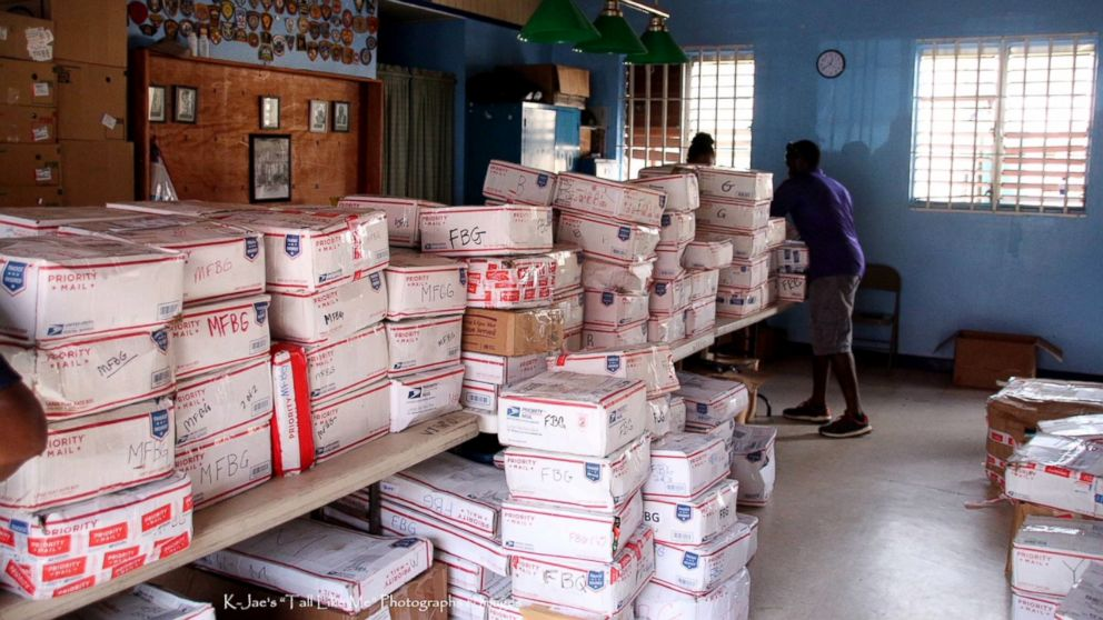 Boxes shipped to the U.S. Virgin Islands through the Adopt a Family organization.
