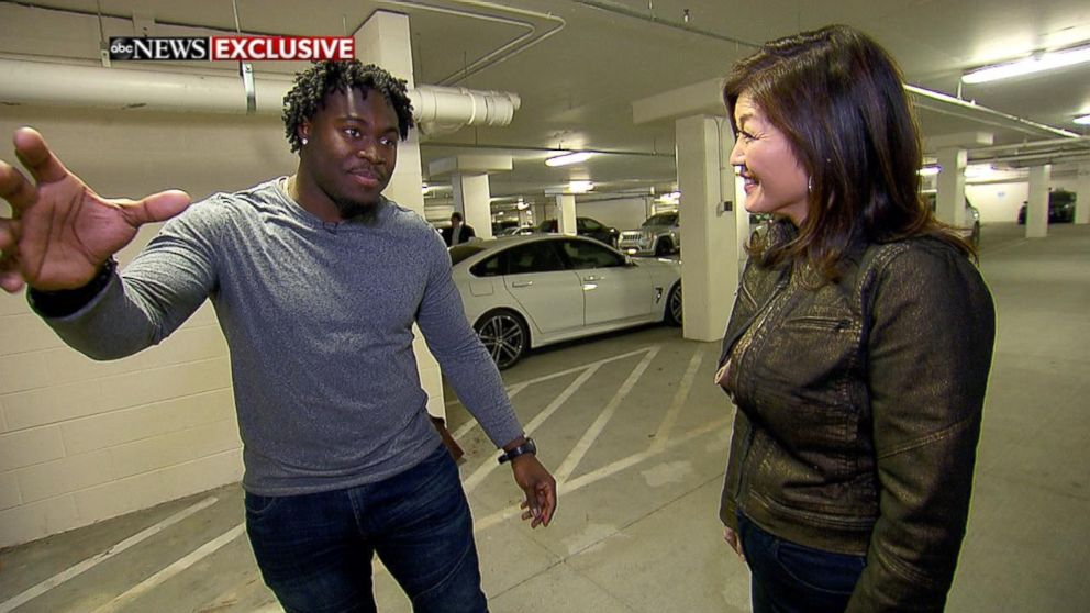 Carolina Panthers fullback Alex Armah shared his experience using a small security camera that caught a stranger breaking into his car.