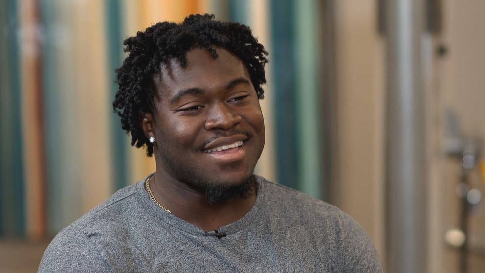"""Carolina Panthers fullback Alex Armah shares with """"Nightline"""" his experience using a personal security camera in his car."""