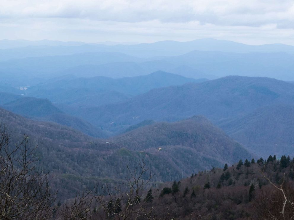 PHOTO: Layers of blue mountains on the Appalachian Trail.