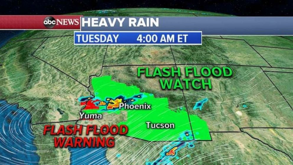 PHOTO: Arizona is expecting heavy storms and flash floods across parts of the state today.