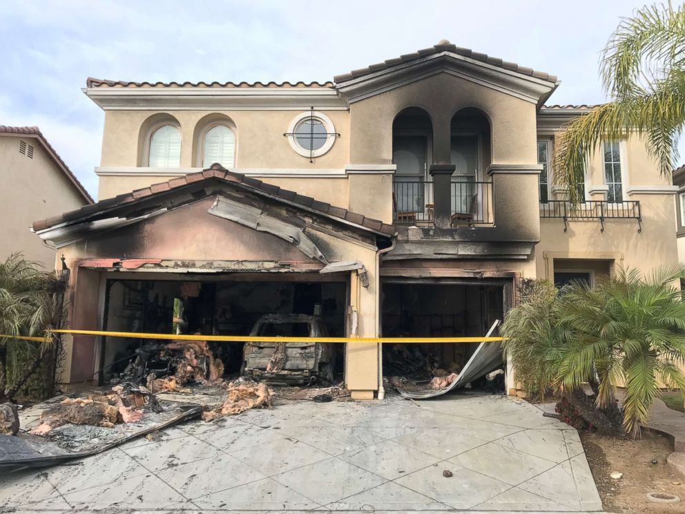 PHOTO: Laura Ohmes San Diego home was destroyed by a fire after her 2014 BMW X5 ignited while she says it was sitting parked and turned off in her garage.