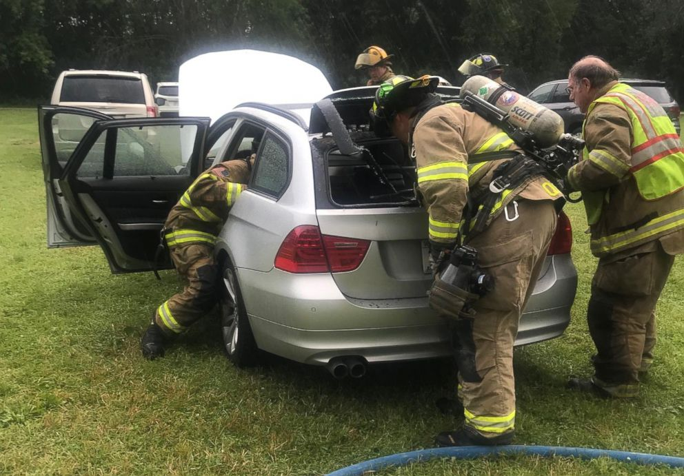 PHOTO: Lynn Wrench received a recall notice for her 2011 BMW 328i xDrive in 2017. While she was waiting for the fix to become available, her car caught on fire while she says it was parked and turned off near her home in Wisconsin.