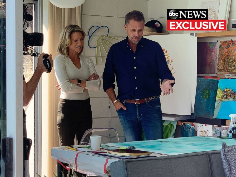 PHOTO: ABCs Amy Robach talks with Hunter Biden during an exclusive interview.