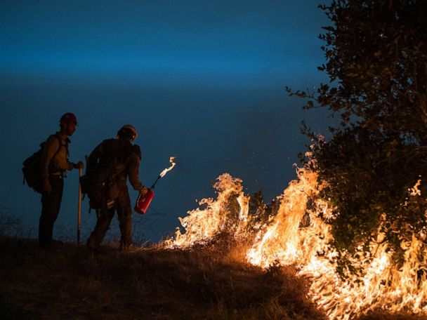 Dangerous fire conditions developing West with Santa Ana winds coming to California