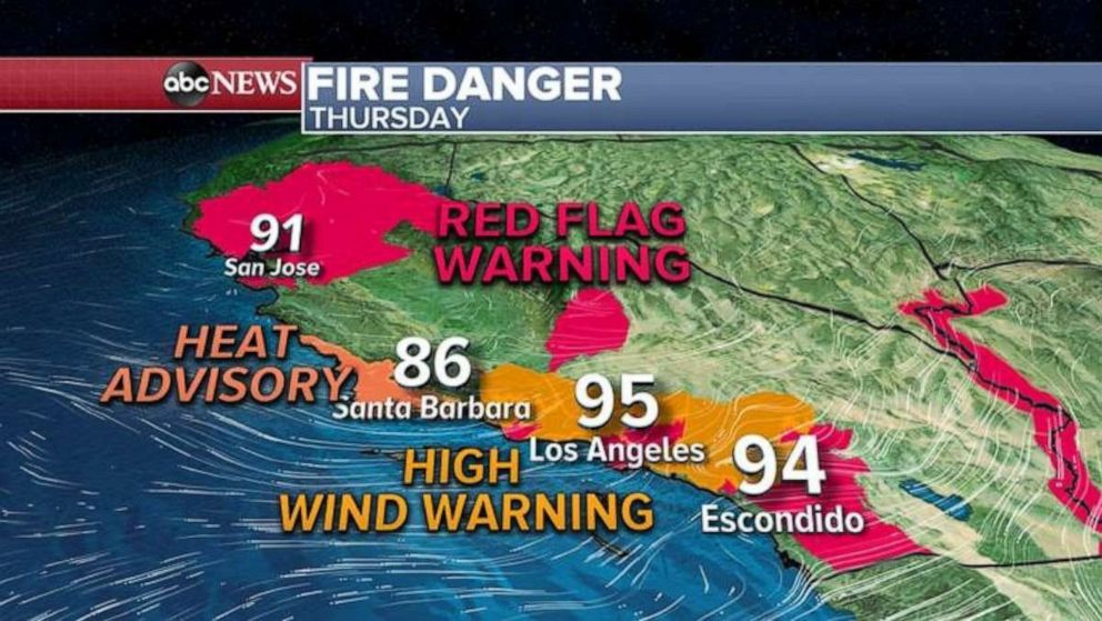 PHOTO: Very dangerous conditions are expected today in northern California and in the Bay Area.