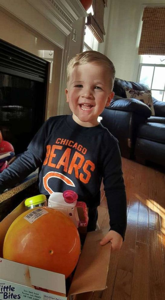 PHOTO: Doctors only identified Carter Roberts mystery illness as AFM after several spinal taps and an MRI.