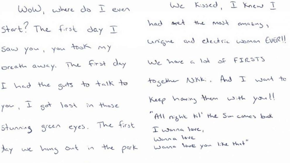 "In a letter dated July 30 to his mistress Nichol Kessinger, Chris Watts described her as ""the most amazing, unique and electric woman EVER"" only weeks before he murdered his wife and children."