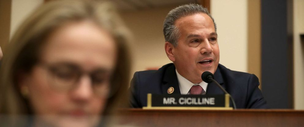 PHOTO: House Judiciary Committee member Rep. David Cicilline (D-RI) questions Acting U.S. Attorney General Matthew Whitaker during an oversight hearing in the Rayburn House Office Building on Capitol Hill, February 8, 2019.