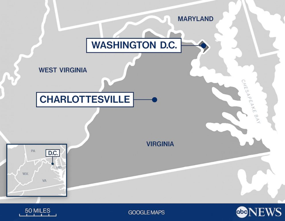 PHOTO: Distance between DC and Charlottesville