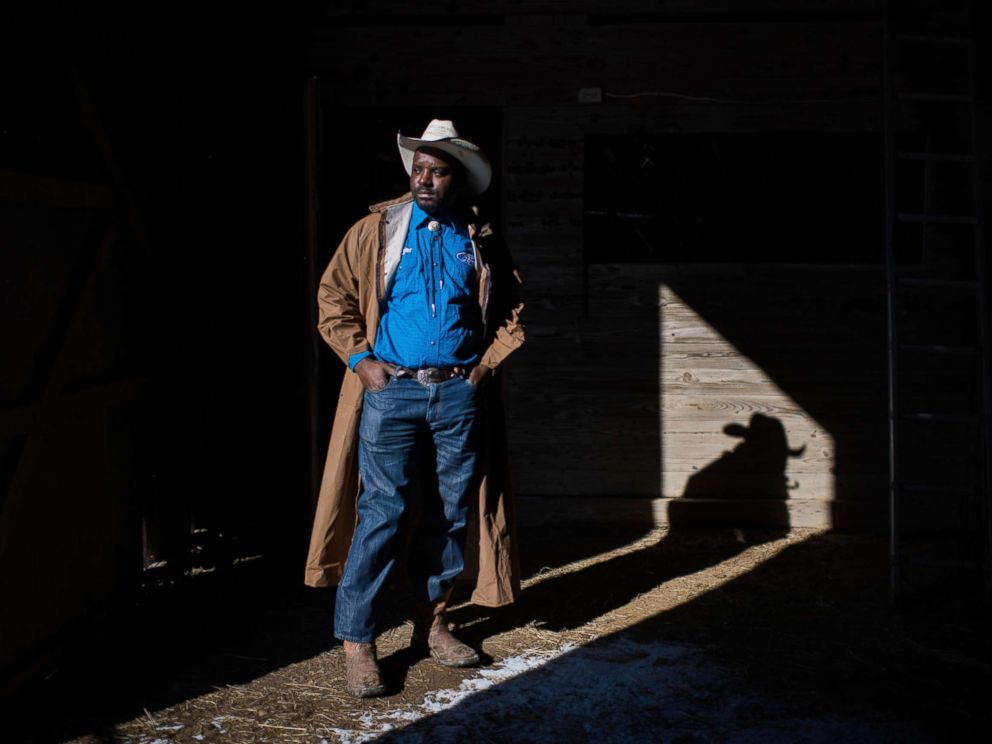 PHOTO: A cowboy named Jessie poses for a portrait at his barn near Cleveland, Miss.