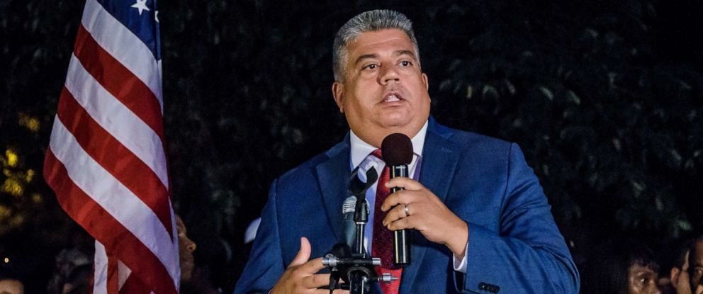 PHOTO: Brooklyn District Attorney Eric Gonzalez speaks at an event, Aug. 8, 2019 in the Brooklyn borough of New York City.