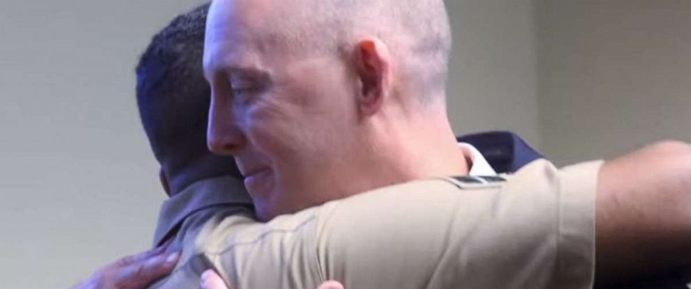 PHOTO: FBI Special Agent Troy Sowers got a special surprise visit from a man he rescued more than two decades ago.