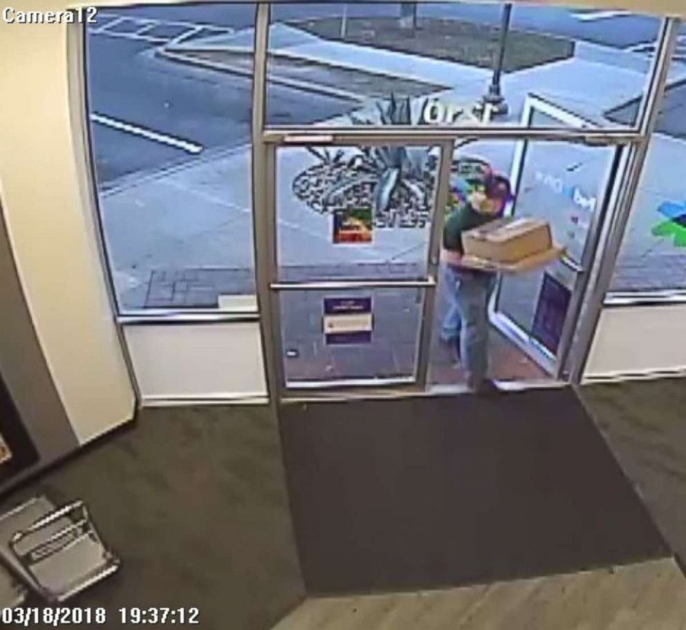 PHOTO: Investigators were able to identify the man who mailed two bombs from a FedEx facility outside of San Antonio from surveillance footage.