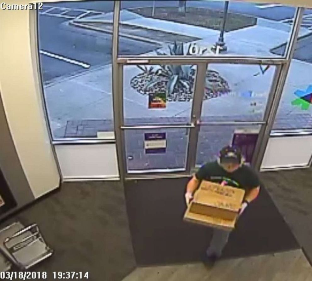 PHOTO:Surveillance video at a FedEx facility led investigators to their first big break in the case -- they were able to identify the Home Depot where the suspect bought the gloves hes wearing.