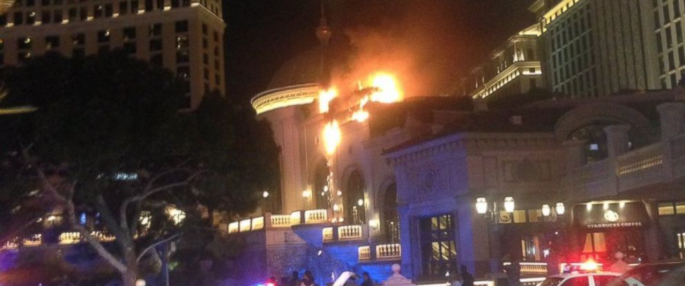 A fire erupted at the Bellagio Hotel and Casino on Thursday, April 13.