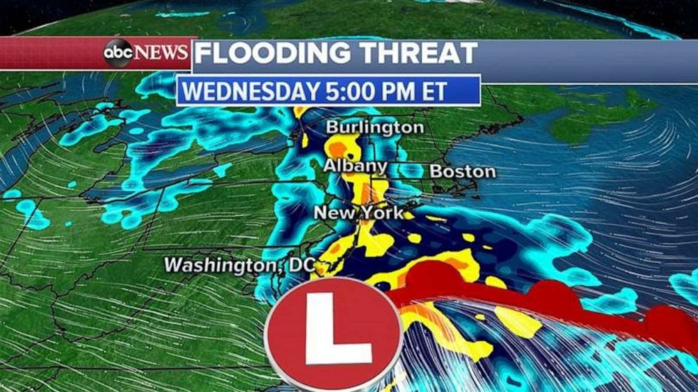 PHOTO: In the next 48 hours, parts of the South could see up to 4 inches of rain which could cause flash flooding in some areas.