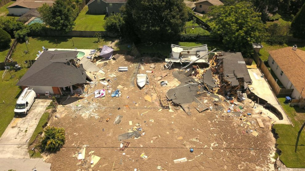 Florida Sinkhole Stops Growing After Destroying 2 Homes
