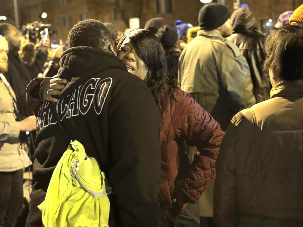 PHOTO: A vigil is held in the Park Manor neighorhood to honor 11-year-old Takiya Holmes who died today after being shot in the head by a stray bullet last Saturday, on Feb. 14, 2017, in Chicago.