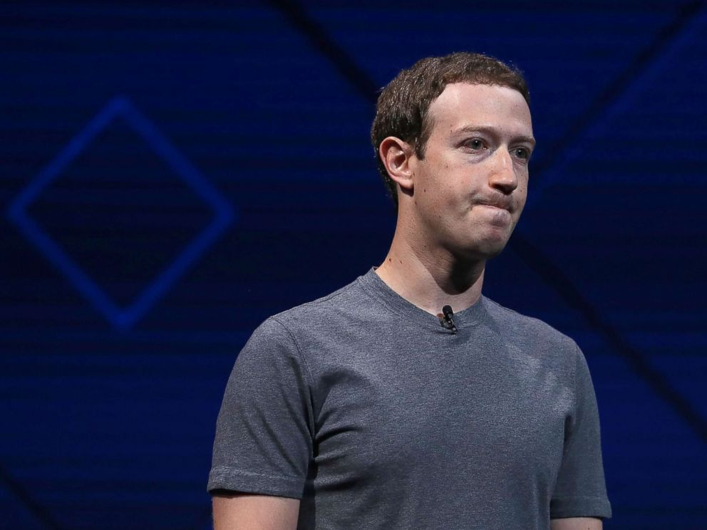 PHOTO: Facebook CEO Mark Zuckerberg delivers the keynote address at Facebooks F8 Developer Conference, on April 18, 2017 at McEnery Convention Center in San Jose, Calif.