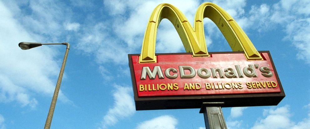 PHOTO: McDonalds famous golden arches catches sunlight, March 14, 2001, at one of its chain restaurants in Boston.
