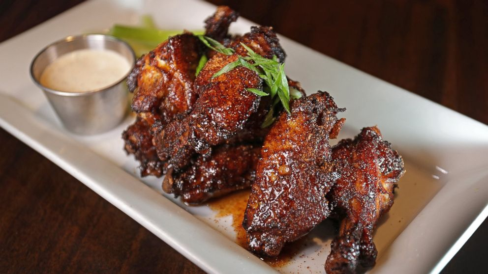 """Dirty"" Chicken Wings pictured at Tempo Restaurant in Waltham, MA."