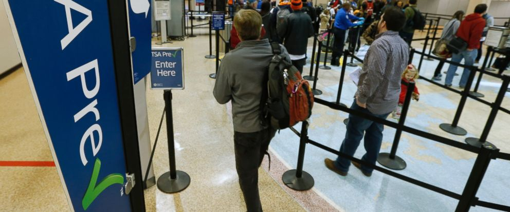 PHOTO: A passenger enters the Transportation Security Administration (TSA) pre-check line towards a security check point at Salt Lake City International Airport in Salt Lake City, on Dec. 23, 2014.