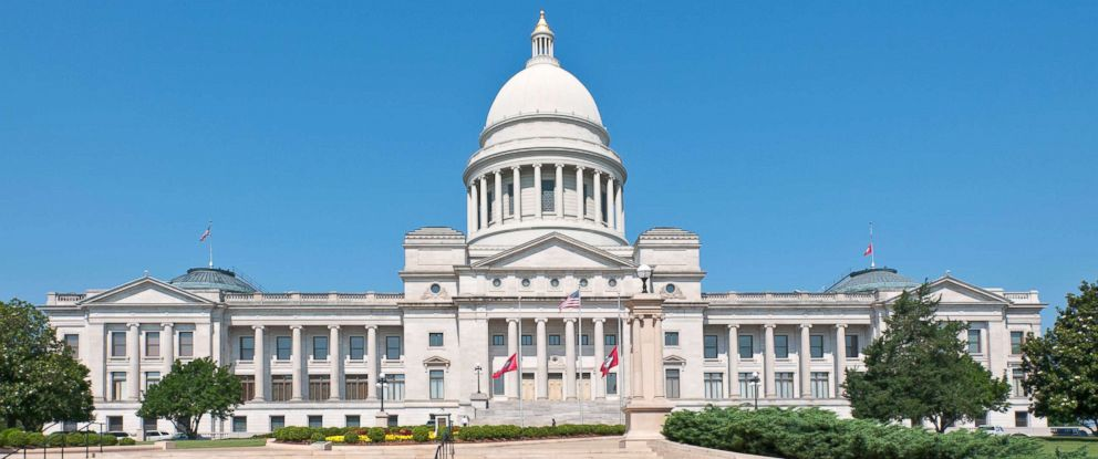 PHOTO: Arkansas State Capitol Building is pictured in this undated stock photo.