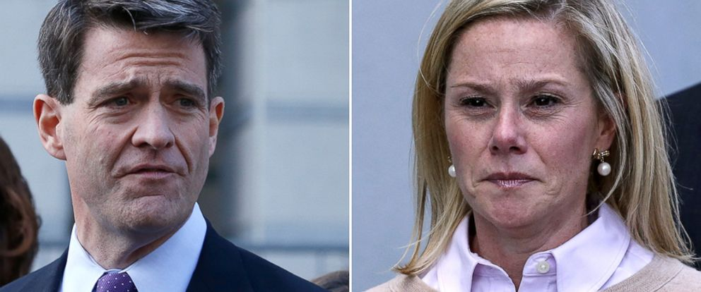 "PHOTO: William ""Bill"" Baroni, left, and Bridget Anne Kelly reacts after she was found guilty in the Bridgegate trial at the Martin Luther King, Jr. Federal Courthouse, Nov. 4, 2016, in Newark, New Jersey."