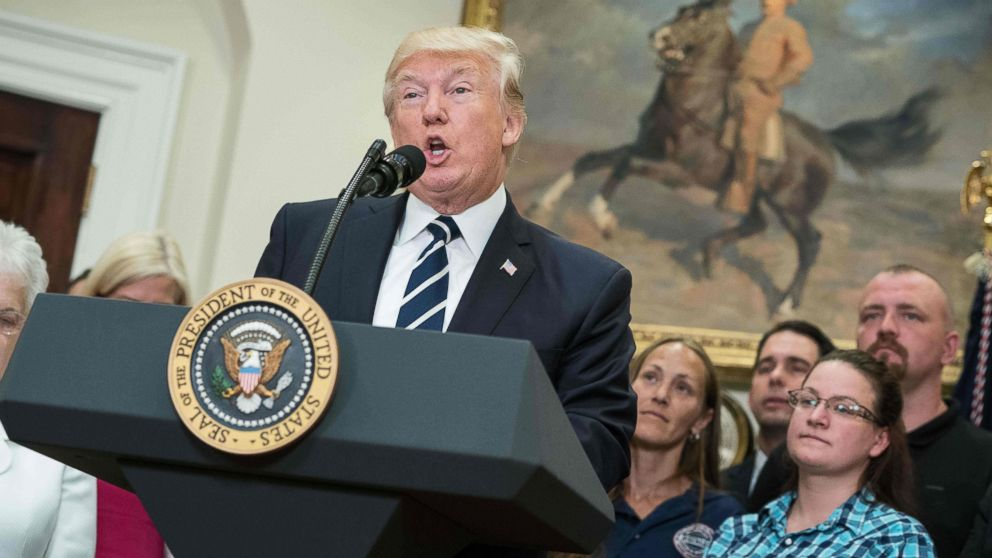 President Donald Trump speaks during the launch of the Apprenticeship and Workforce of Tomorrow initiatives in the Roosevelt Room at the White House in Washington, D.C., June 15, 2017.
