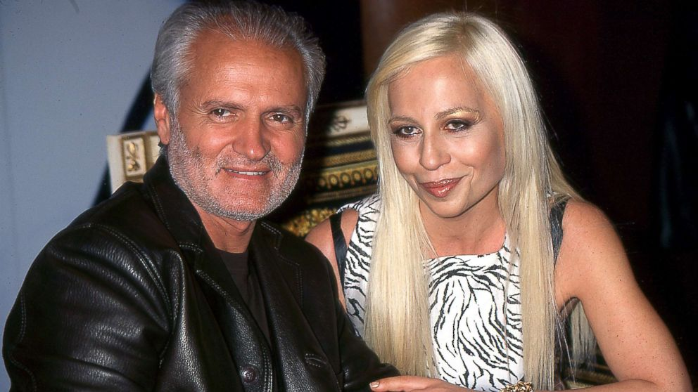Gianni and Donatella Versace in New York City.