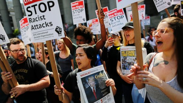 Anti-Sharia marches, counter-protests lead to fighting and arrests