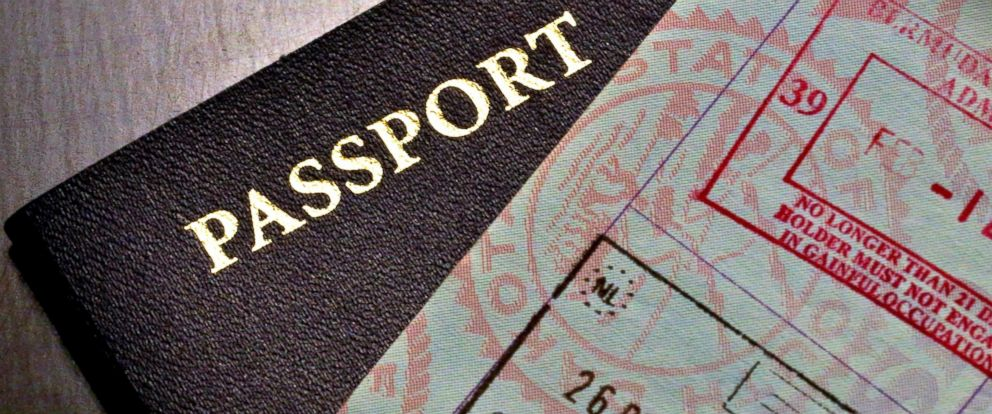 PHOTO: Passport and visa for entry.