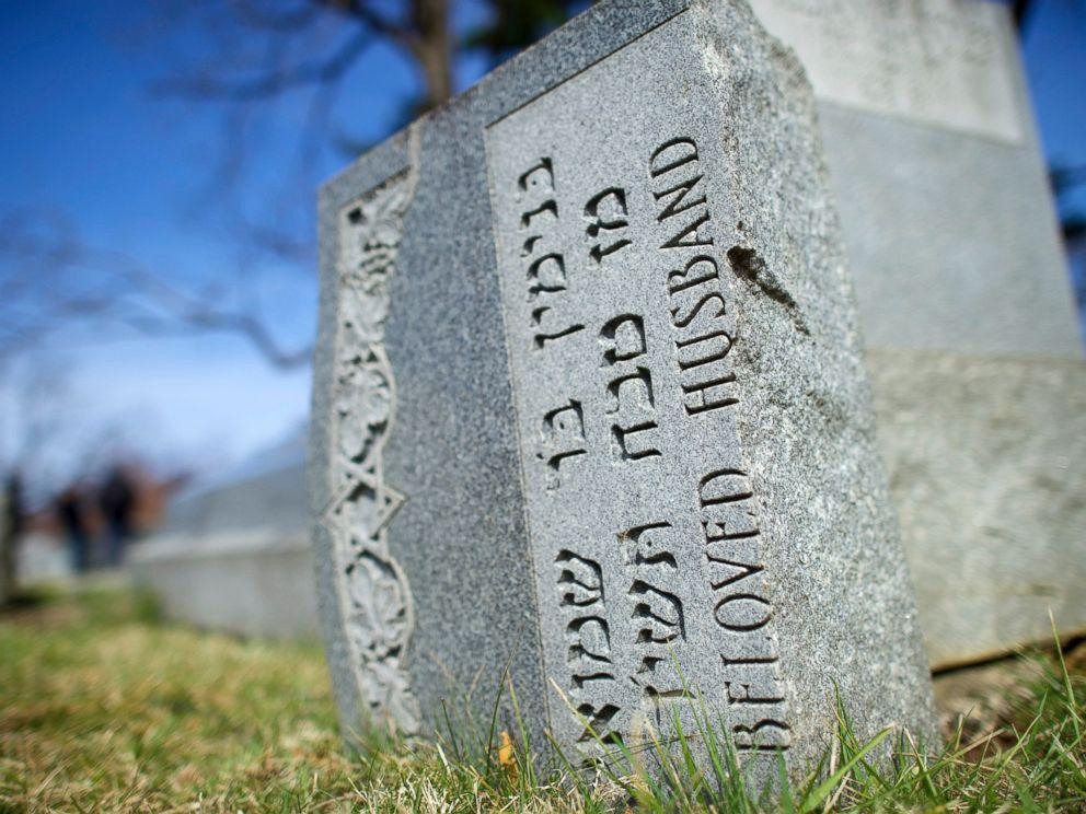 PHOTO: Jewish tombstones lay vandalized at Mount Carmel Cemetery, Feb. 27, 2017, in Philadelphia.