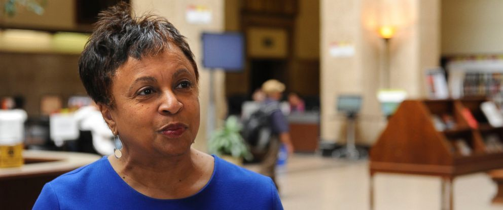 PHOTO: Carla Hayden, in an April 2015 file image, is confirmed by the Senate on July 13, 2016, to head the Library of Congress. Hayden is the longtime leader of Baltimores library system.