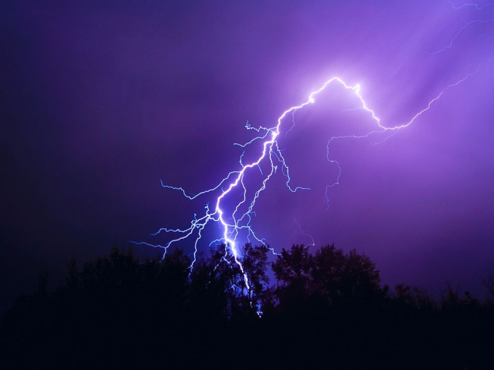 PHOTO: An undated stock photo of lightening.