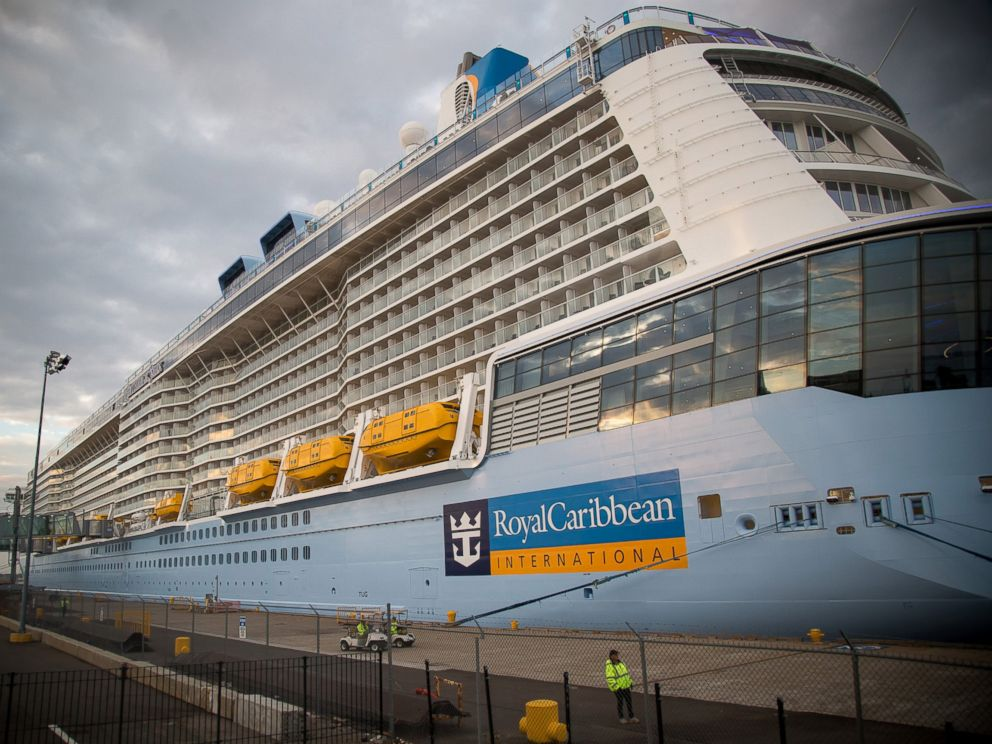 PHOTO: Royal Caribbean Cruises Ltd.s Quantum-class cruise ship, the Anthem of the Sea, sits moored at the Cape Liberty Cruise Port in Bayonne, N.J. on Oct. 6, 2015.