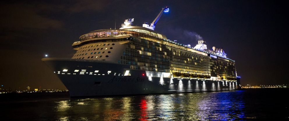 PHOTO: Royal Caribbeans The Anthem of the Sea, at the Cape Liberty Cruise Port in Bayonne, NJ on Oct. 6, 2015.